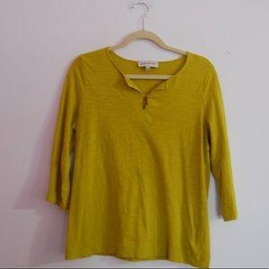 Jones New York golden lime blouse